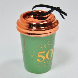 Starbucks 50th Anniversary Commemorative Paper Cup Ornament  Online Limited Edition
