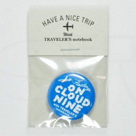 Traveler's Factory Tin Badge - Floating On Cloud Nine (Very Rare)